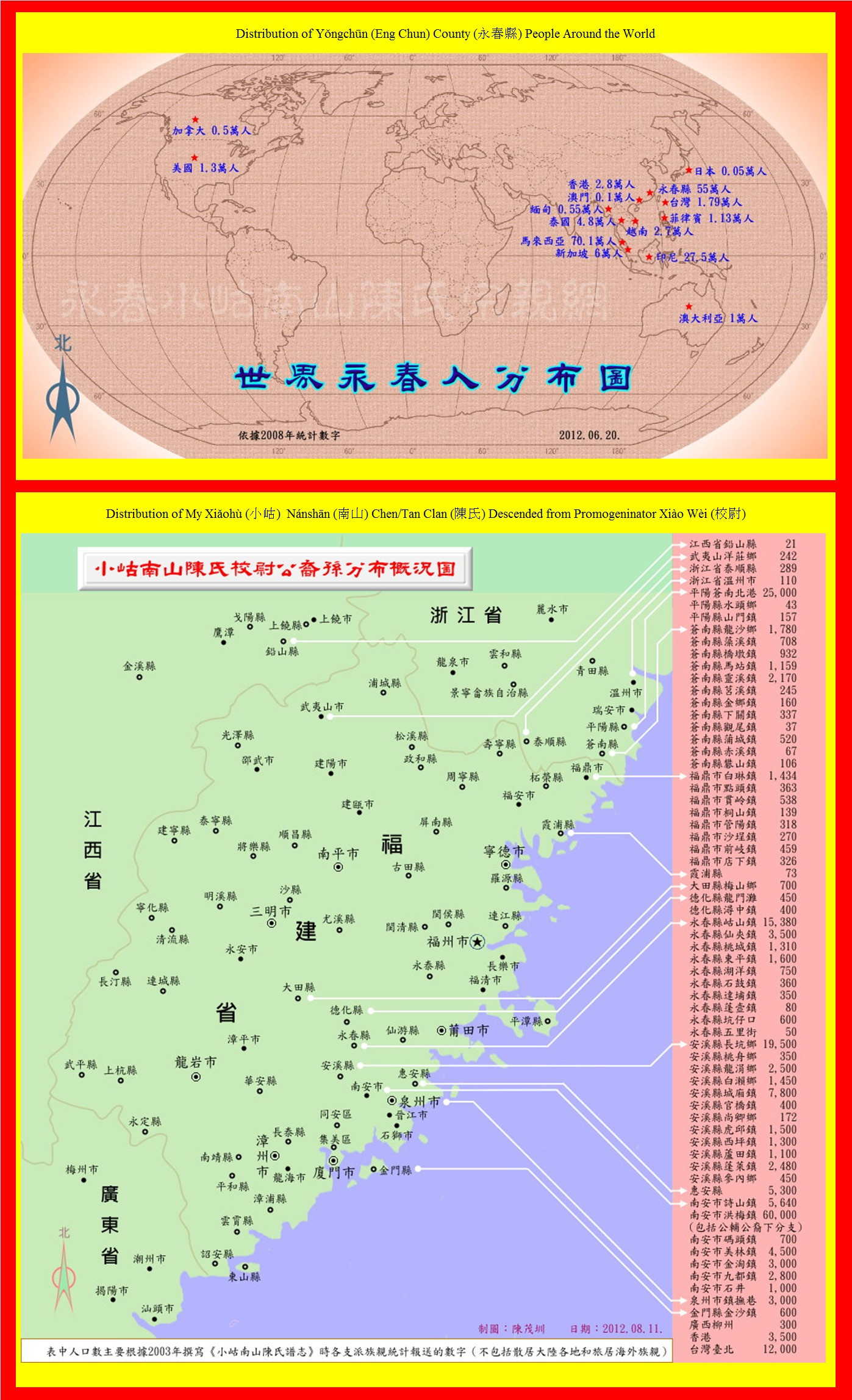 Hamlet Or Village Of Lam Uah In Fujian Province China Chinese Genealogy