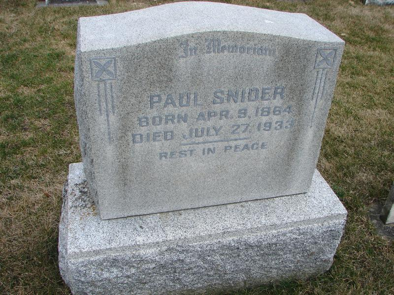 Paul Snider (1864 - 1933) - Genealogy
