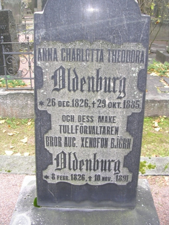 Anna Charlotta Theodora Oldenburg (1826 - 1885) - Genealogy