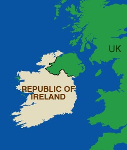 Where Is The Republic Of Ireland On A Map.Counties Of The Republic Of Ireland